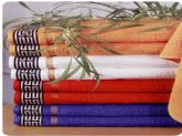 65. greek design jaquard terry towel