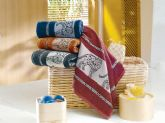 50. leopard design jaquard border towel