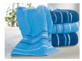 6. plain towel with striped border