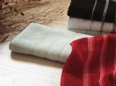78 point design striped woven towel