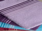 69. cotton terry towel with stripe border